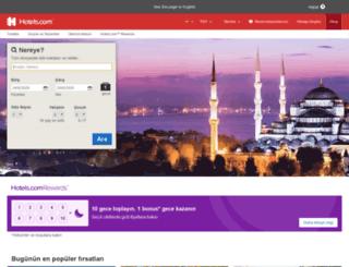 tr.hotels.com screenshot