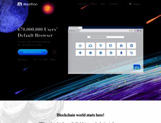 tr.maxthon.com screenshot