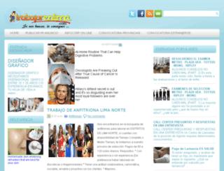 trabajarenlima.com screenshot