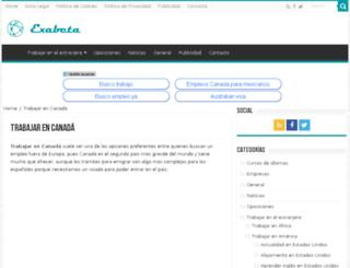 trabajocanada.org screenshot
