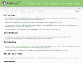 trac.bbpress.org screenshot