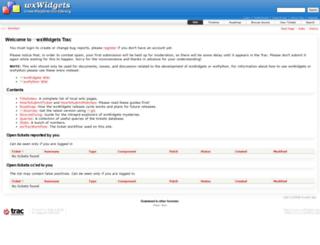 trac.wxwidgets.org screenshot
