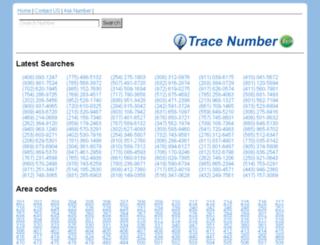 trace-number.com screenshot