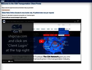 trace.csatransportation.com screenshot