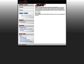 trace.expeditors.com screenshot