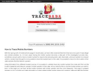 tracebaba.com screenshot