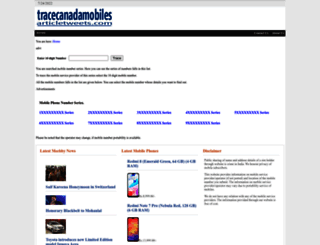 tracecanadamobiles.articletweets.com screenshot