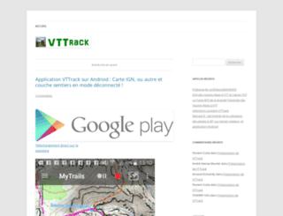 tracegps.vttrack.fr screenshot