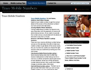 tracemobilenumbers.com screenshot