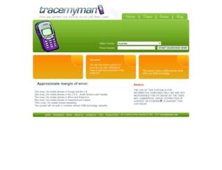 tracemyman.com screenshot