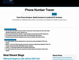 tracephonenumber.in screenshot