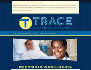 tracestaffing.com screenshot