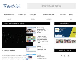 tracetrick.com screenshot