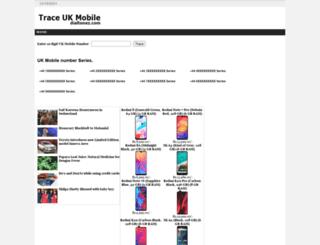 traceuknumbers.dialtonez.com screenshot
