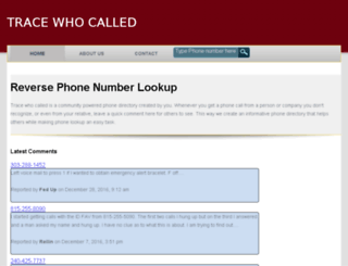 tracewhocalled.com screenshot
