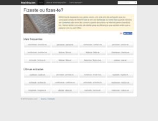 tracinho.com screenshot