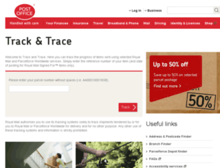 track.postoffice.co.uk screenshot