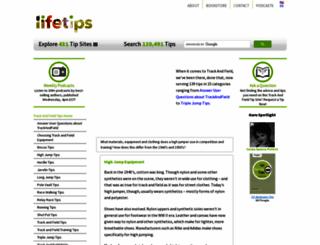 trackandfield.lifetips.com screenshot