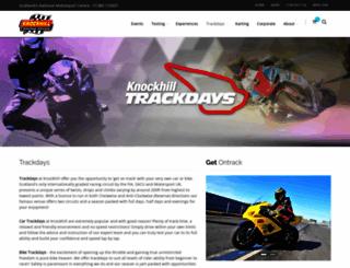 trackdays.knockhill.com screenshot