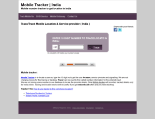 tracker.mobileringtonesstore.com screenshot