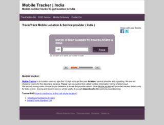 tracker.mobileringtonesstore.com screenshot