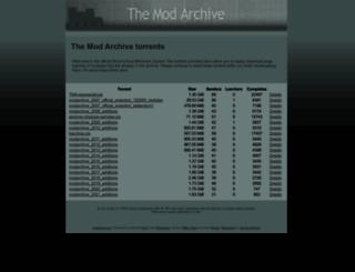 tracker.modarchive.org screenshot