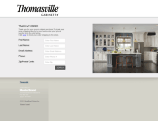 tracker.thomasvillecabinetry.com screenshot