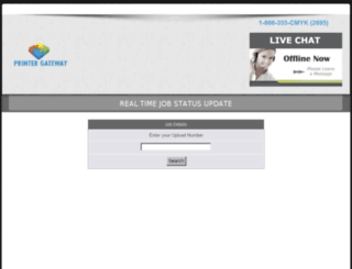 tracking.printergateway.com screenshot
