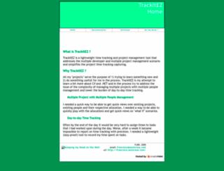 trackitez.sourceforge.net screenshot