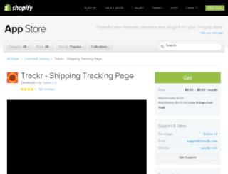 trackr.s4commerce.com screenshot