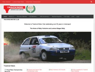 trackrodmotorclub.co.uk screenshot