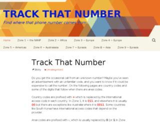 trackthatnumber.com screenshot