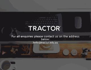tractor.edu.au screenshot
