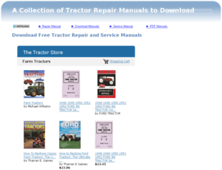 tractorrepairmanual.com screenshot