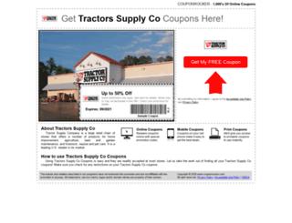 tractorsupplyco.couponrocker.com screenshot