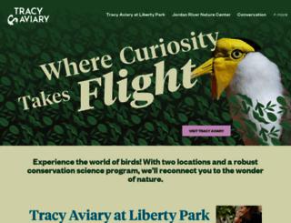 tracyaviary.org screenshot