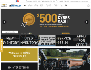 tracychevrolet.com screenshot