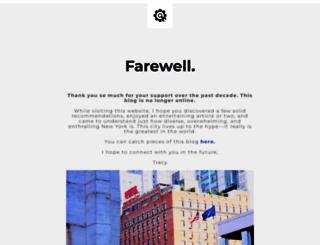tracysnewyorklife.com screenshot