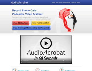 tracytresidder.audioacrobat.com screenshot