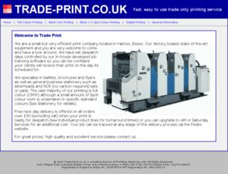 trade-print.co.uk screenshot
