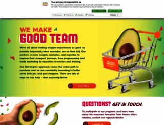 trade.avocadosfrommexico.com screenshot