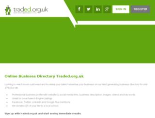 traded.org.uk screenshot