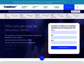 tradedirect.ch screenshot