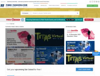 tradefairs.fibre2fashion.com screenshot