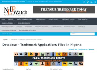 trademarksearch.nlipw.com screenshot
