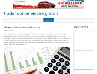 traderoptionbinairegratuit.bravesites.com screenshot
