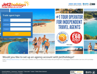 tradesite.jet2holidays.com screenshot