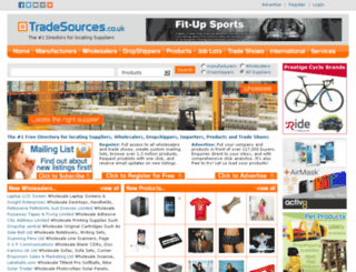 tradesources.co.uk screenshot
