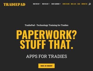 tradiepad.com.au screenshot