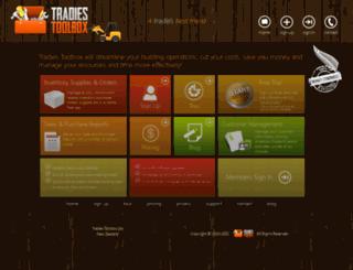 tradiestoolbox.co.nz screenshot